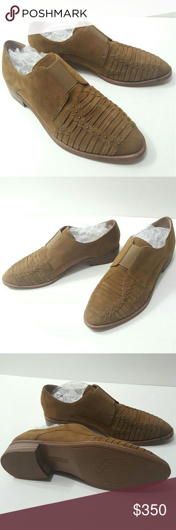 ⤵⤵New Vince Camuto Signature Suede Slip On New Vince Camuto Suede Signature Almond Brown Slip On. Brand new try on once. Fit true to size 7. Color: Almond Brown Suede. Not my style too bad. No box selling just the gorgeous. Fast Shipping and House Gifts. Come visit for great selection of handbag, handbag accessories key chain, keyring, replacement chain gold, silver or titanium italy curb design. Over 50 style of Twilly Available now! Bundle offer welcome! Final Sale No return Please raise…