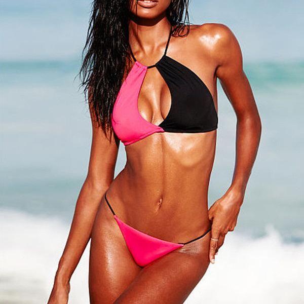 Beach Bikini Halter Splice Swimsuit