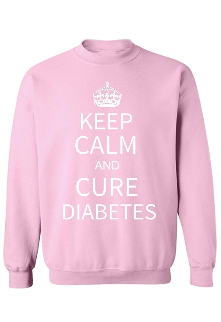 Keep Calm and Cure Diabetes Shirts Basic Sweatshirt