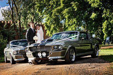 Mustang wedding cars... Oh yeah!
