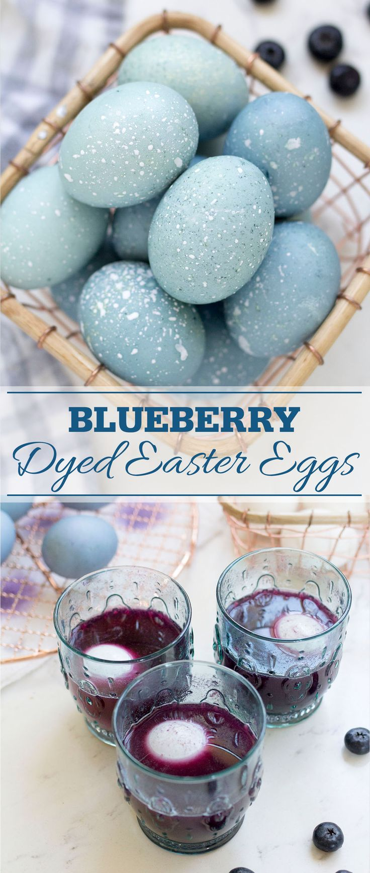How to dye Easter Eggs with an all natural egg dye made from blueberries!