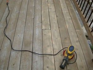 Sanding a Wood Deck is Usually Required After a Deep Power Washing