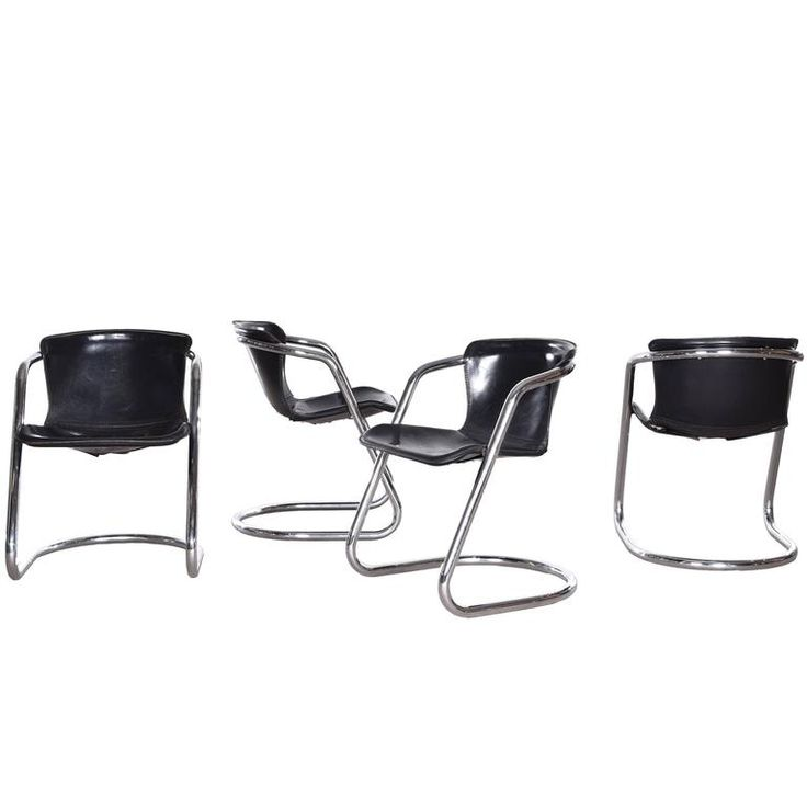 Willy Rizzo Dining Chairs for Cidue, France 1