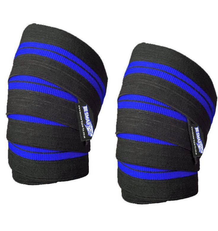 BeSmart Power Lifter Weight Lifting Knee Wraps Supports Gym Training Pair #BeSmart