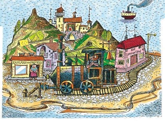 Eine Modellinsel wie aus dem englischen Geschichtsbuch