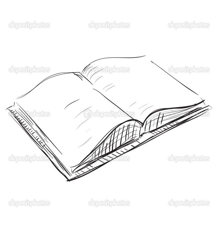 drawings of books | Sketch open book icon | Stock Vector © Chuvilo Mykhailo #7412813