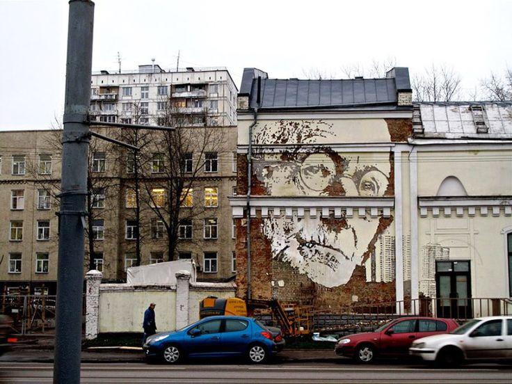 Seni Jalanan Lukisan Mural di Kota Moskow di Rusia 2
