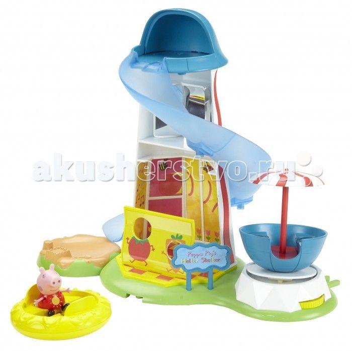 Peppa Pig Игровой набор Водная горка Луна Парк  Peppa Pig Игровой набор Водная горка. Луна Парк.  Потрясающий игровой набор Водная горка, созданный по мотивам мультфильма Свинка Пеппа, обязательно понравится вашему малышу. Сюжетно-ролевая игра с ним надолго увлечет кроху и поможет развивать воображение, координацию движений, навыки общения и речь. А чтобы игра была интереснее, можно приобрести другие игрушки из серии Peppa Pig.  В наборе 3 предмета:  игровая площадка, высота - 29 см, длина…