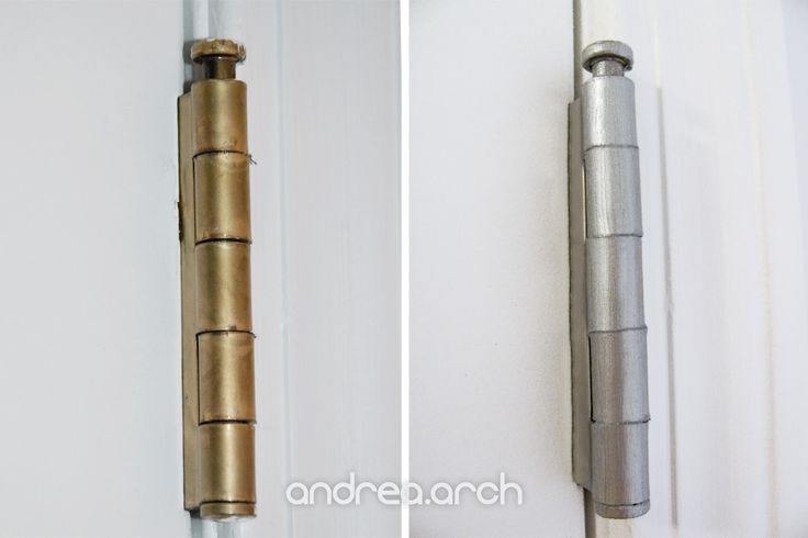 Update brass hinges. Andrea Arch: DIY: Upcycle Brass Hinges