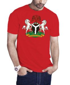Men's Nigeria Coat Of Arms T-Shirt Red