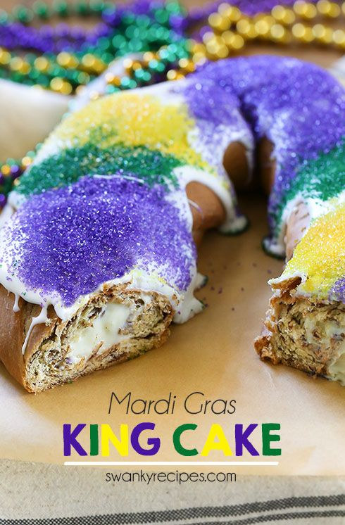 Cream Cheese King Cake Celebrate Mardi Gras With This Stuffed New Orleans Classic Tastes Just Like A Cinnamon Roll And