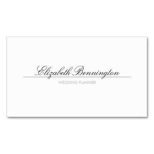 56 best Business Cards Wedding Planner images on Pinterest