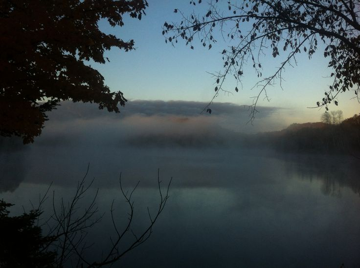 Misty morning on the lake.!! Photo by Kyal Stephen Smith. Dorset Ontario Canada.!! Photo by Kyal Stephen Smith. Dorset Ontario Canada.!Taken with IPhone 4.