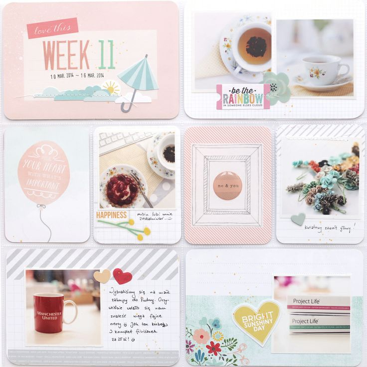 magda mizera | scrapbooking, photography and more: Scrapbooking Project Life, Pocket Scrapbooking, Teal Color, Life Inspiration, Week 11, Life Ideas, Color Palette, Things Inspiration, She S Crafty