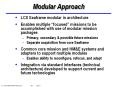 Modular Approach LCS Seaframe modular in architectur