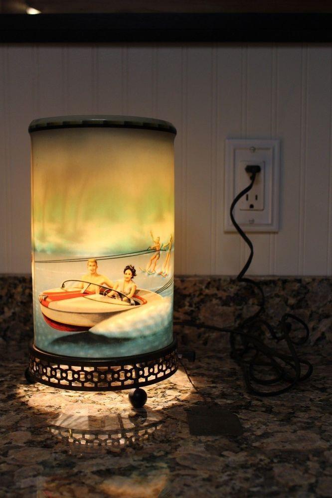 Sold For 1 501 Vintage 1958 Econolite Boat Model 764 Motion Lamp Light Very Rare Lamp Light Vintage Lamp