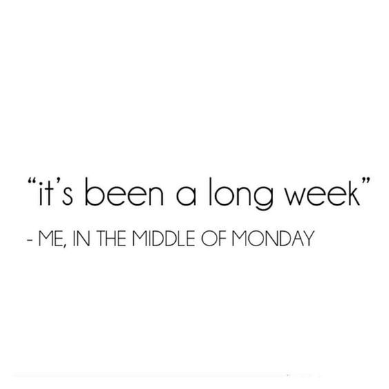 I just said that this week! ---accurate on any week you read this.