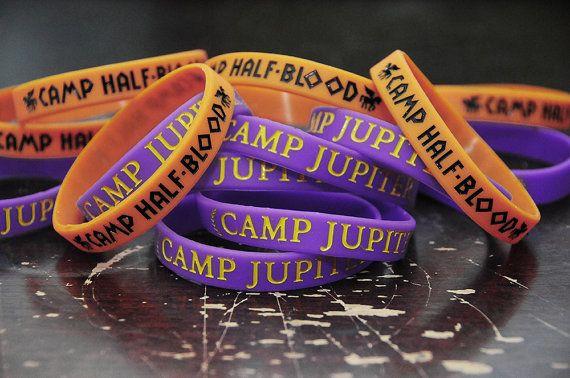 Greeky Geeky Silicone Bracelets.  Camp Half-Blood or Camp Jupiter bracelets.  Whose camp are you in??