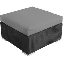 Feb 6, 2020 - Outflexx Beistelltisch/Hocker, schwarz, Polyrattan, inkl. Glasplatte und Polster
