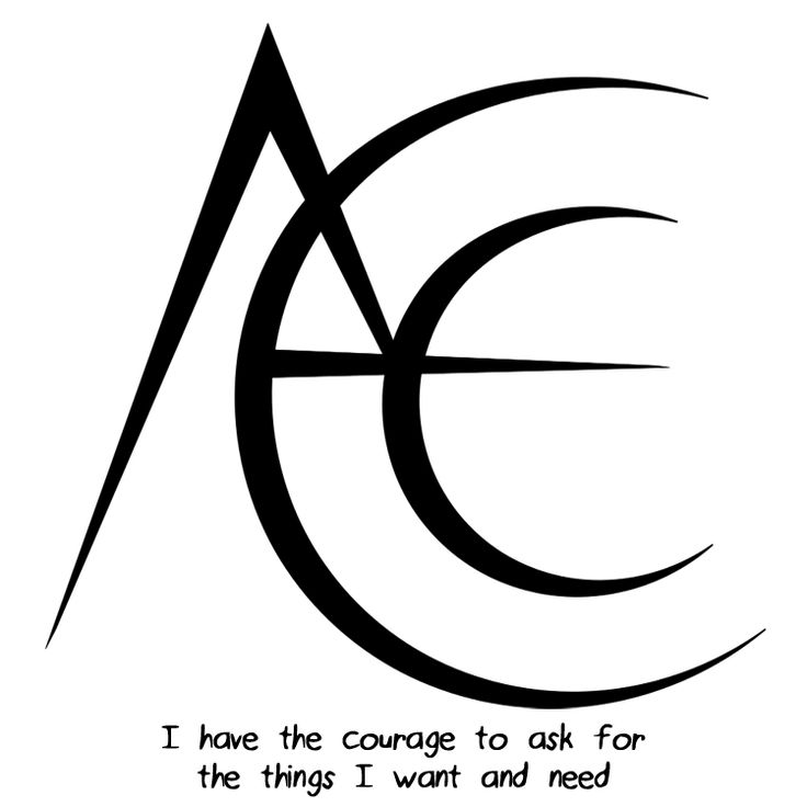 """I have the courage to ask for the things I want and need"" sigil requested by anonymous Sigil requests are closed."