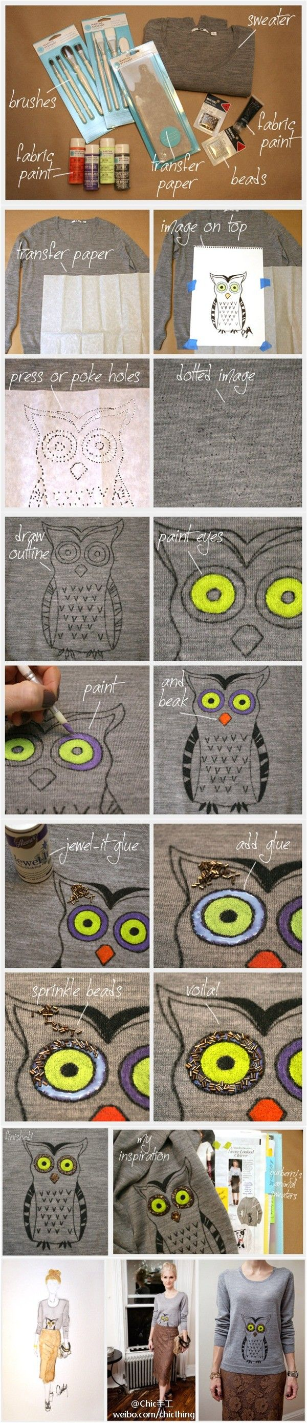 Cool T-shirt Crafts for Kids and Teens, tshirt,handmade,craft,diy,upcycle,recycle crafts for kids, diy, owl, t shirt painting