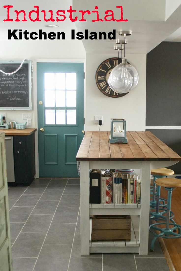 Kitchen Island Rustic best 25+ industrial kitchen island ideas on pinterest | industrial