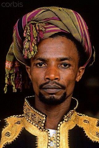 Man from Comoros. (Comoros, Eastern Africa)