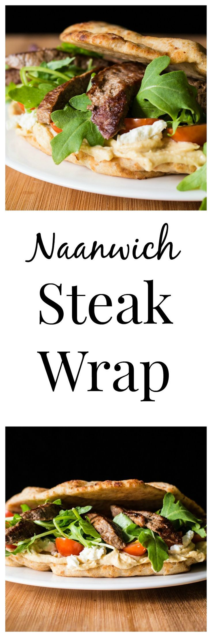 This delicious steak wrap sandwich made with naan bread is quick, easy, and so full of fresh flavor.  Try it for lunch or dinner today!  Sponsored by Beef, It's What's for Dinner.