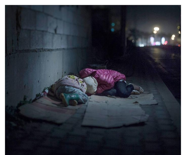 Ralia 7, Rahaf 13, live on the streets of Beirut. They are from #Damascus ..  A grenade killed their mother & father.