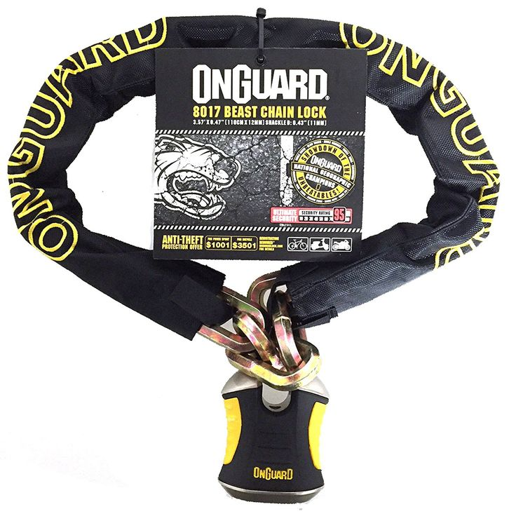 OnGuard BEAST 8018 Chain Lock. *X2P Double Bolt Locking Mechanism**Z-CYL Technology*