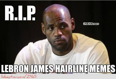 lebron james hairline meme - photo #3