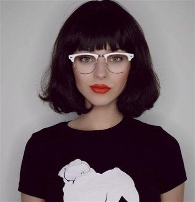 Retro Inspired Half Frame Semi-Rimless White/Gold Clear Lens Clubmaster Style Glasses
