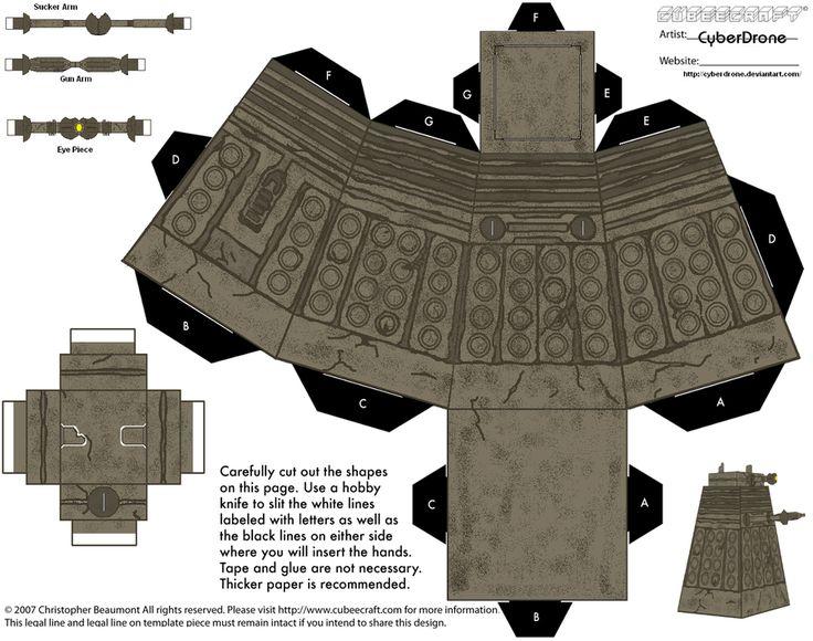 Cubee - Stone Dalek by CyberDrone.deviantart.com on @deviantART