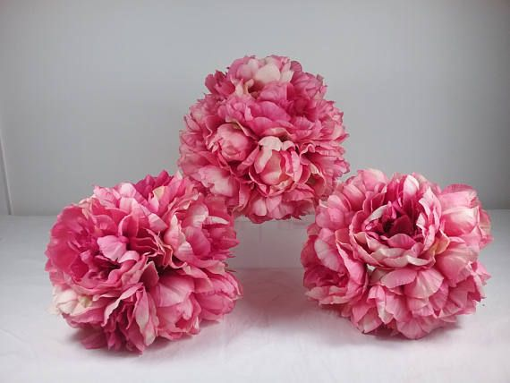 Brand New 1 Bridal & 2 Bridesmaid Fuscia Pink Peony Wedding Bouquet set (Quantity Silk Flowers)  All my boquets are Hand made by me.  I have been a florist for 35 years and love my job.  I have sold Bouquets and wedding arrangements to the most remote parts of Australia, especially where fresh flowers are not available, and for those who want an everlasting keepsake of their special day. My faux flowers are made of quality products.  The items listed are one offs   Postage listed is estim...
