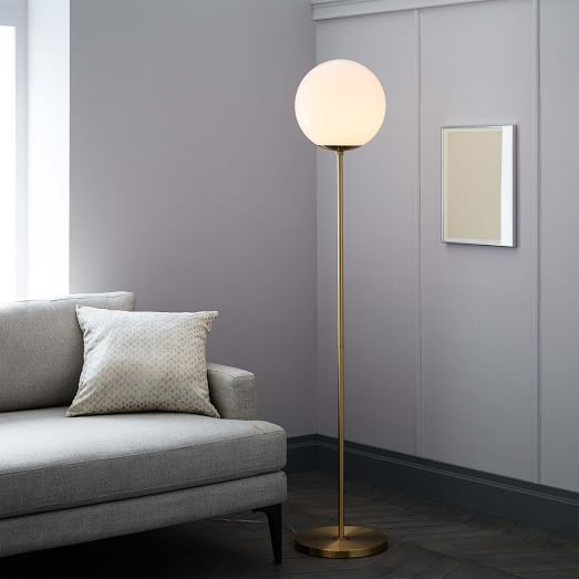 """$199  Dimensions: 11""""diam. x 62""""h. Globe Floor Lamp 