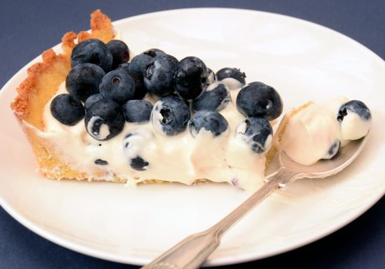 Low Carb Blueberry Tart - 5g net carbs per slice