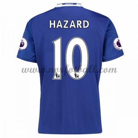 Billige Fotballdrakter Chelsea 2016-17 Hazard 10 Hjemme Draktsett Kortermet