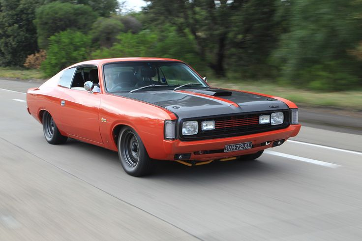 Aussie Valiant Charger 265; 1972 265ci/4.3litre; new alloy head with larger valves; mild cam; triple 45DCOE Webers; around. 400bhp; Tremec T56 six speed, manual gearbox; Borg Warner LSD 3.8:1; bare shell 'matching numbers' resto over 5 yrs completed 2012. This pixtaken for an article in Chrysler Action Magazine July 2013.