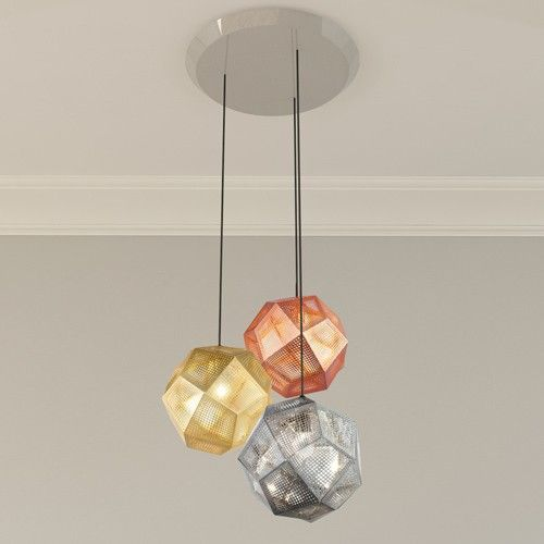 Etch 3 light multipoint pendant