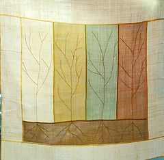 Tree branches embroidered - pojagi from a korean art book - Google Search