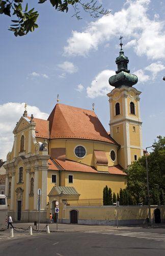 Carmelite church in Győr. Hungary
