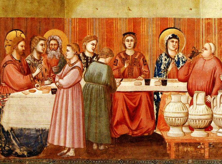 GIOTTO, Cappella degli Scrovegni, particolare nozze di Cana