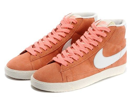 Cheap 518171 603 Nike Blazer MID suede VNTG orange women shoes