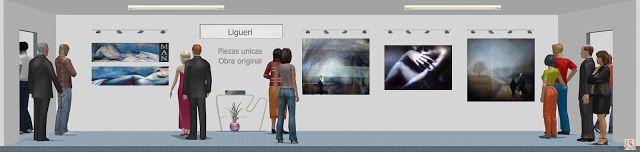 Sala de exposición virtual de pinturas de Ligüeri