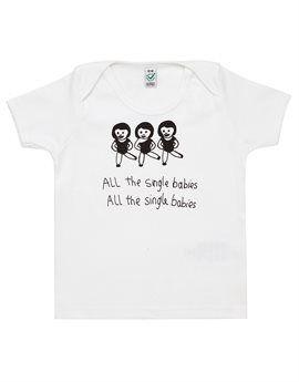BLACK SCORE White 'All the Single Babies' T-Shirt  Shop here: http://www.tilltwelve.com/en/eur/product/1076166/BLACK-SCORE-White-All-the-Single-Babies-T-Shirt/
