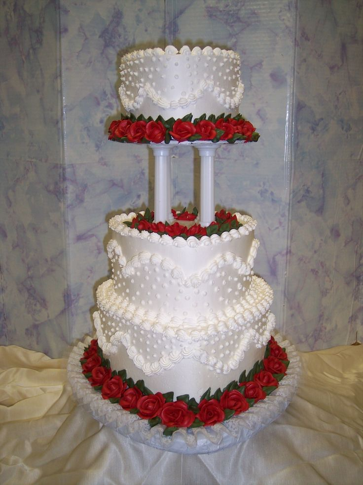 wedding cakes | heart shaped wedding cakes - instead of the red- you can substitute purple!