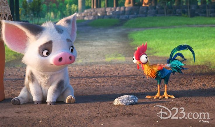 Pua the pig anf HeiHei the rooster