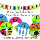ZB Manuscript Round Alphabet Line (Bright & Clear Decor) Oh no she has these cute ones too!!!!! Which to choose??