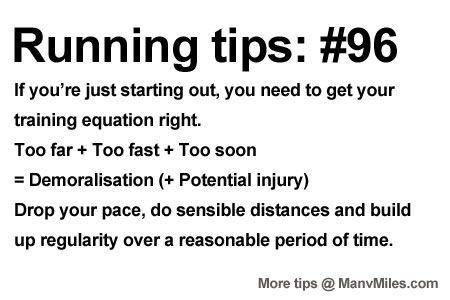 Running Tips: Start smart, go longer. Starting running or training for a marathon? Tips and help:Get more running tips and training adivce