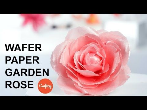 Wafer Paper Rose Step-by-Step | Cake Decorating Tutorial with Stevi Auble - YouTube